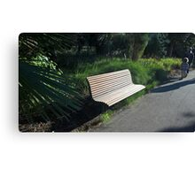 Seat in Geelong Botanic Gardens Canvas Print