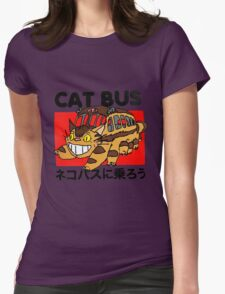 Cat Bus Womens Fitted T-Shirt