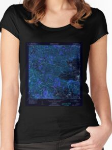 USGS TOPO Map Puerto Rico PR Yabucoa 362603 1952 30000 Inverted Women's Fitted Scoop T-Shirt