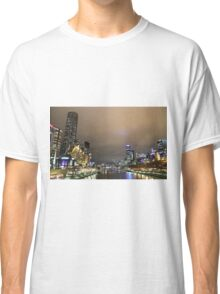 Melbourne at night Classic T-Shirt