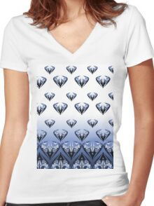 Diamonds Women's Fitted V-Neck T-Shirt