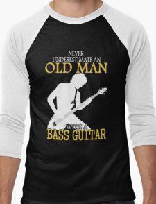 Never Underestimate An Old Man With A Bass Guitar Men's Baseball ¾ T-Shirt