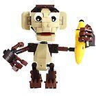 LEGO Monkey with Banana by SnappyBrick
