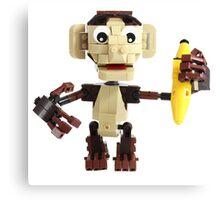 LEGO Monkey with Banana Canvas Print