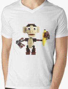 LEGO Monkey with Banana Mens V-Neck T-Shirt