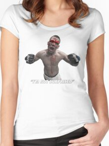 Nate Diaz I'm Not Surprised Women's Fitted Scoop T-Shirt