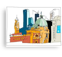 Flinders Street, Melbourne Canvas Print