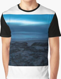 Cape Woolamai at Dusk on a foggy evening Graphic T-Shirt