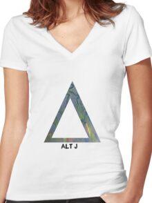 alt j Women's Fitted V-Neck T-Shirt