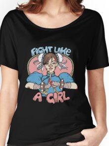 Fight Like A Girl - Chun Li (Street Fighter) Women's Relaxed Fit T-Shirt