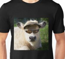cow with sunglasses Unisex T-Shirt