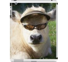 cow with sunglasses iPad Case/Skin