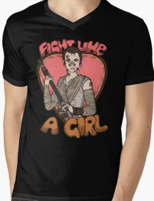 Fight Like A Scavenger (Fight Like A Girl) Mens V-Neck T-Shirt