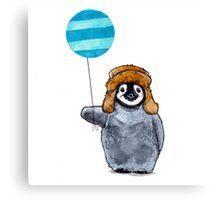 Penguin & Balloon Canvas Print