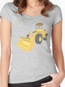 Bulldozer 3D projection Women's Fitted Scoop T-Shirt