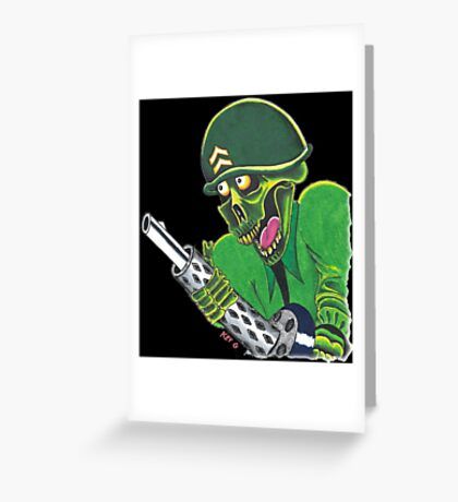 SOLDIER OF DEATH Greeting Card