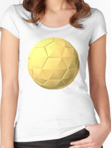 soccer ball gold Women's Fitted Scoop T-Shirt