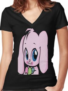 Cute Easter Bunny Women's Fitted V-Neck T-Shirt