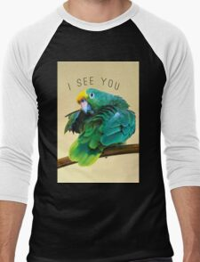 I see you. Sly Parrot Photo Men's Baseball ¾ T-Shirt