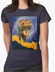pizza cheetos cat Womens Fitted T-Shirt