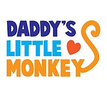 Daddy's little monkey Photographic Print