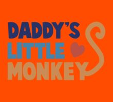 Daddy's little monkey Kids Tee