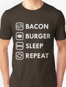Bacon Burger Sleep Repeat T-Shirt