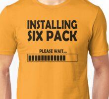 installing sixpack Unisex T-Shirt