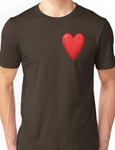 three-dimensional model of the heart valentines Unisex T-Shirt
