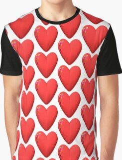 three-dimensional model of the heart valentines Graphic T-Shirt