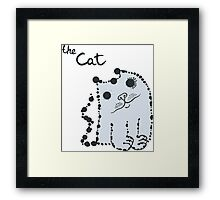 Funny cute ink splashes cats. Framed Print