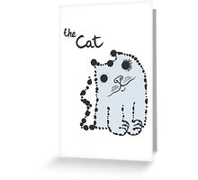 Funny cute ink splashes cats. Greeting Card