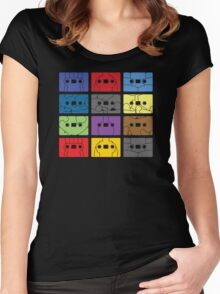 Something About My Cassettes Women's Fitted Scoop T-Shirt