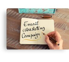 Handwritten text Email Marketing Campaign Canvas Print