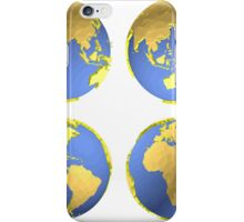 three-dimensional model of the planet earth iPhone Case/Skin