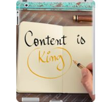 Handwritten text Content is King iPad Case/Skin