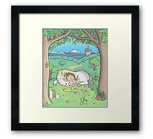 Sleeping Princess Framed Print