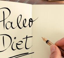 Handwritten text Paleo Diet Sticker