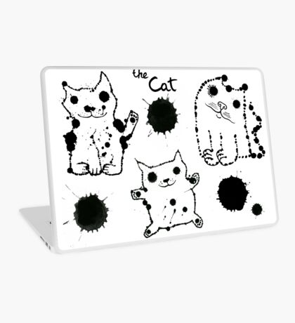Funny cute ink splashes cats. Laptop Skin