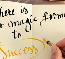 There is no Magic Formula to Success Sticker