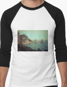 Amalphi coast, Capri, Italy 4 Men's Baseball ¾ T-Shirt