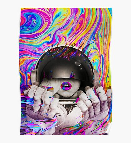 Psychedelic Astronaut (Vintage Effect) Poster