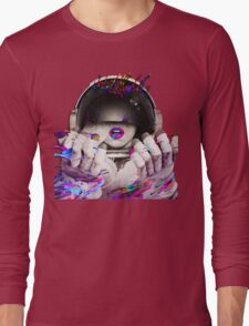 Psychedelic Astronaut (Vintage Effect) Long Sleeve T-Shirt