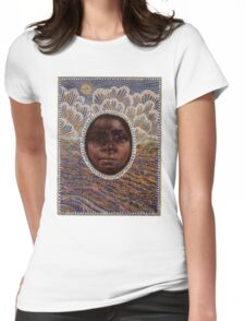 'Icon to a Stolen Child: Wave' by Julie Dowling Womens Fitted T-Shirt
