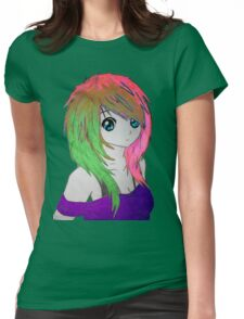 Anime Girl #1 Womens Fitted T-Shirt