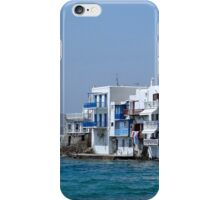 Anchored in Mykonos iPhone Case/Skin
