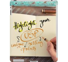 Text HIGHLIGHT YOUR USP UNIQUE SELLING POINTS iPad Case/Skin