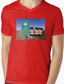 Zone Selfie Souriez Mens V-Neck T-Shirt