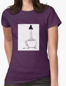 Tea Lovin' Tree Womens Fitted T-Shirt