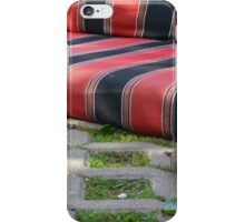 Pigeon next to mattress in the park. iPhone Case/Skin